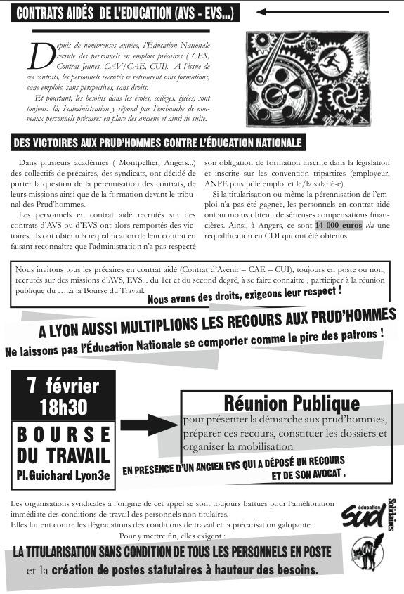 Contrats Aides De L Education Avs Evs Des Victoires Aux